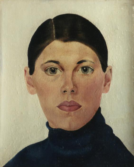 Zelfportret Rietveld ± 1929 - olie/doek, 25x20 cm - ongesigneerd