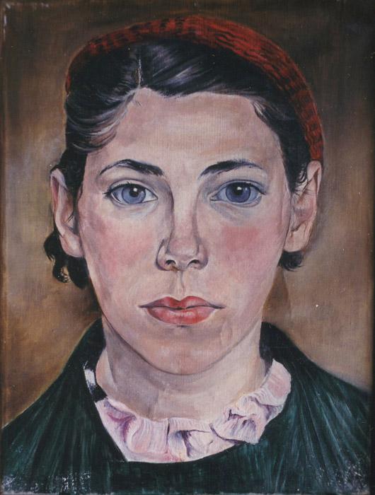 Zelfportret 1937 - olie/doek, 29x22 cm - R 37; rechtsonder. Dit zelfportret schilderde Bep in 1937, het jaar waarin zij vertrok naar Nederlands-Indië, samen met haar bijna vijfjarige zoontje Fons Seijler.