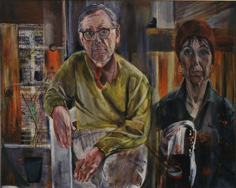 Derk en Elisabeth Eskes 1975 - acryl/karton, 90x120 cm - EER 75; linksboven