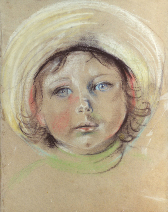 Portret Elsie 1947 - pastel/papier 30x24 cm - ongesigneerd