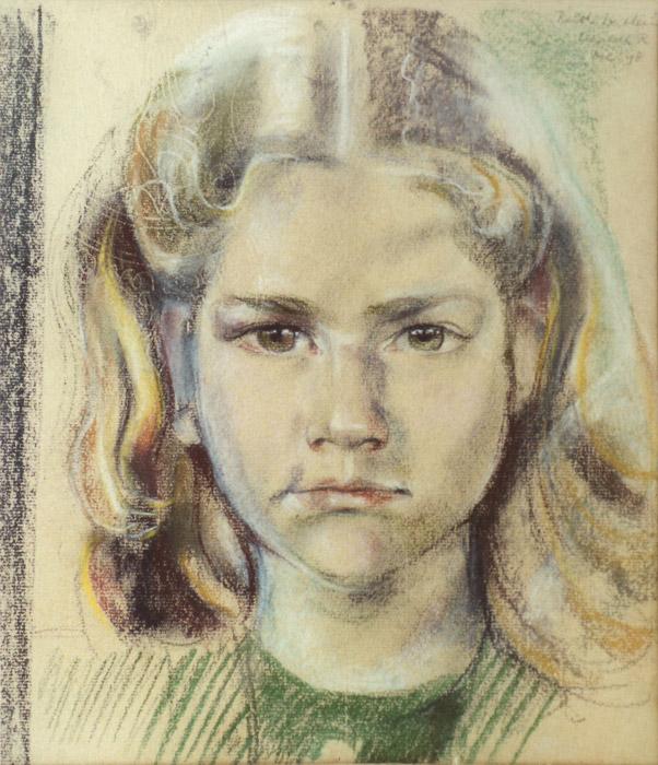 Anne Ruth Wertheim - pastel 34x29.5 cm - Elisabeth R. dec. 48; rechtsboven