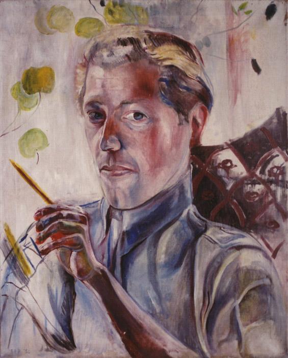 Jan Rietveld - olie/doek 60x50 cm - EER '50; linksonder
