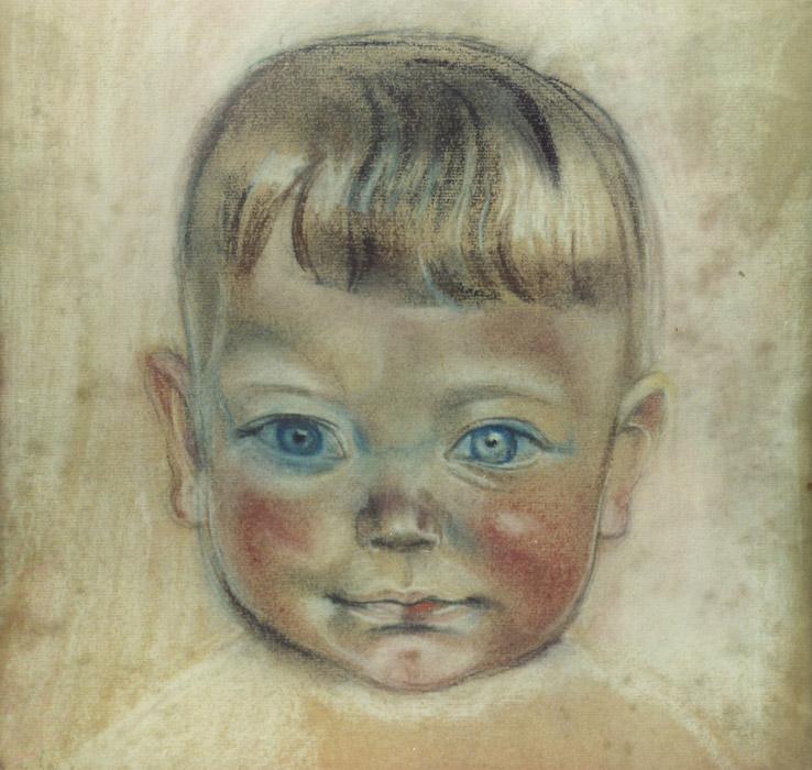 Gijs Stuyling de Lange - pastel 31x31 cm - ongesigneerd (± 1950)