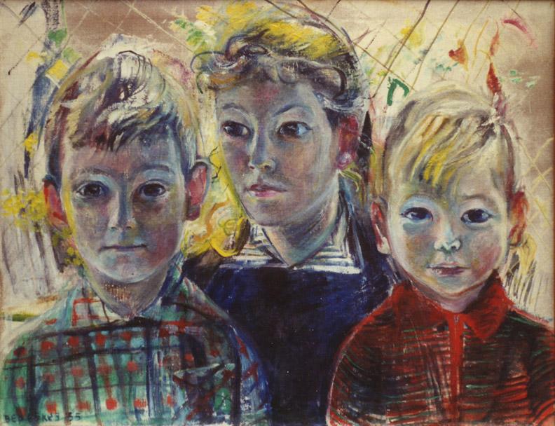 Vrouwgien, Gerit Jan en Wim Rietveld - olie/doek 50x65 cm - Bep Eskes '55; linksonder