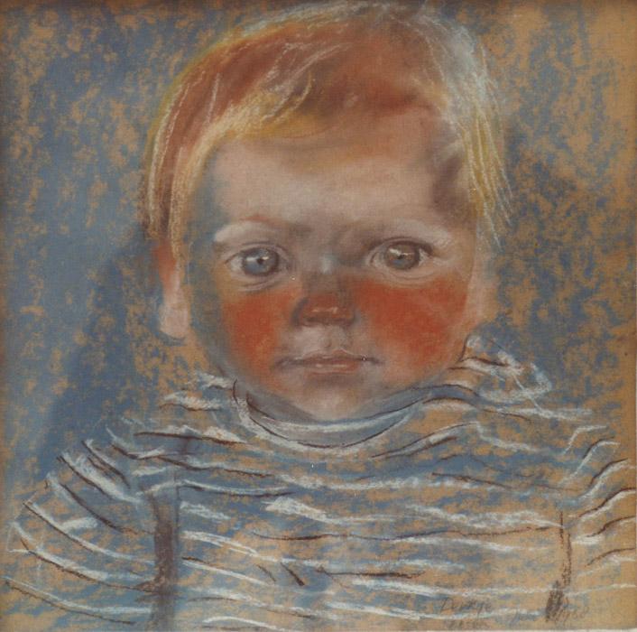 Derkje Bouhuijs - pastel 35x34.5 cm - E. Eskes juli 1968; rechtsonder