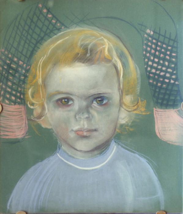 Saskia Struijk van Bergen - pastel 50x42 cm - lis. Eskes-Rietveld; achterzijdeongdaer
