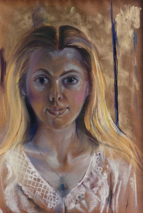 Eva Eskes - pastel 62x47 cm - Elis. Eskes 1978; rectsonder
