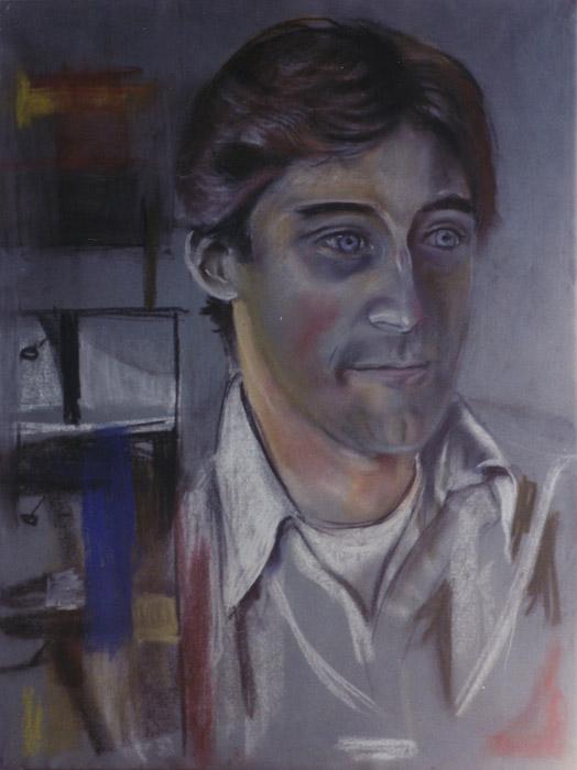 Gert Rietveld (schets voor familieportret) - pastel 62.5x47 cm - ongesigneerd ongedateerd