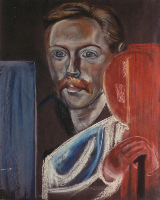 Hans Rietveld (schets voor familieportret) - pastel 65x50 cm - ongesineerd ongedateerd