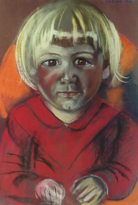Leentje Schade - pastel 65x50 cm - E.E.R. Feb. '82; rechtsboven