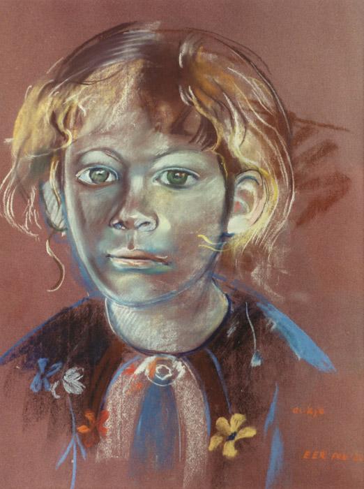 Aukje Schade - pastel 65x50 cm - E.E.R. feb. '82; rechtsonder