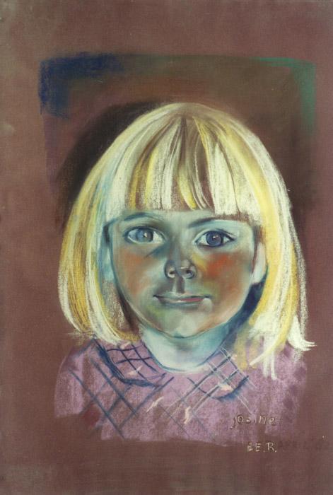 Josine Mulder - pastel 65x50 cm - EER april 82; rechtsonder