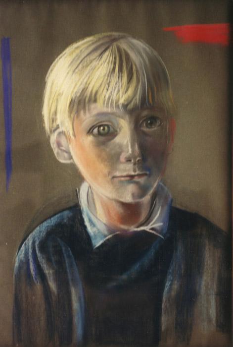 Michiel Priester - pastel 63x45 cm - Elis. Eskes-Rietveld okt. '83; linksonder