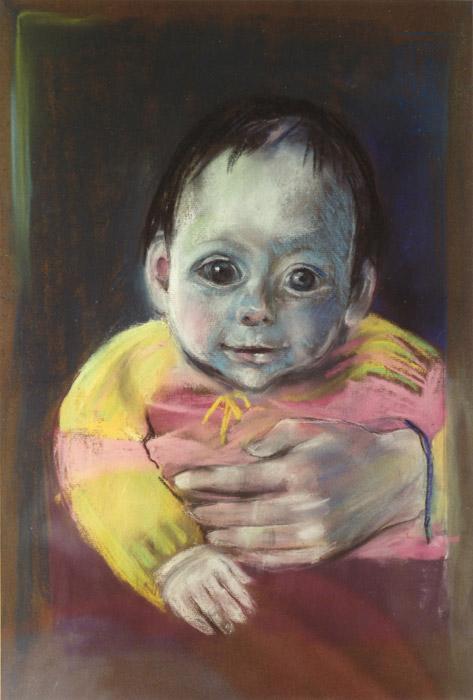 Marlou Otten - pastel 57x47.5 cm - april 1984; op achterzijde