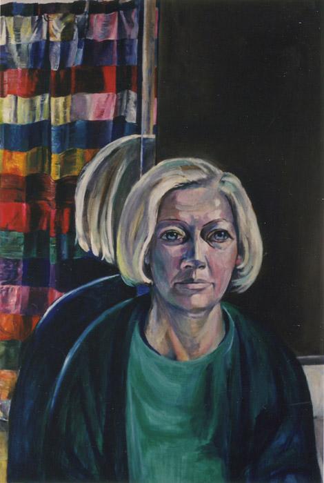 Margaretha Ferguson - acryl/masonite 94.5x72 cm - Dec. 85 E. Eskes-Rieteld; linksonder