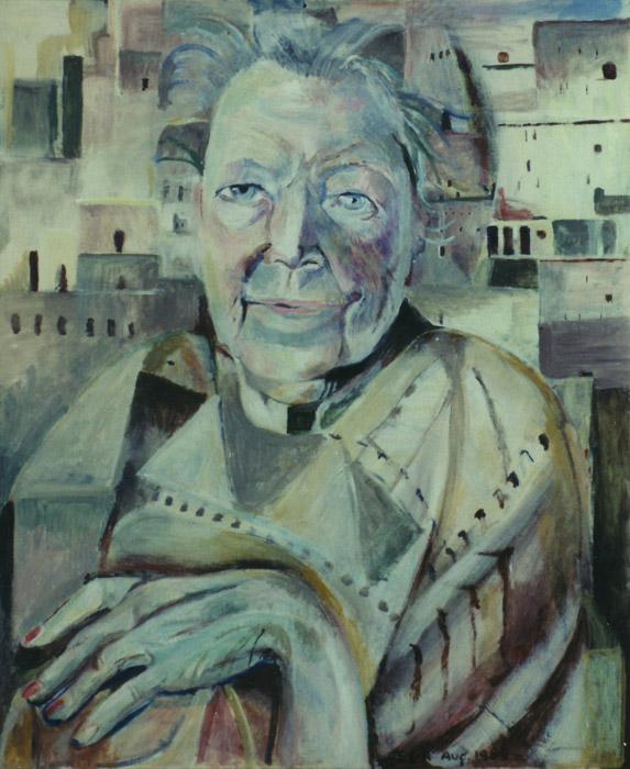 Jo Boer - olie/paneel 60x50 cm - EER Aug. 1989; rechtsonder