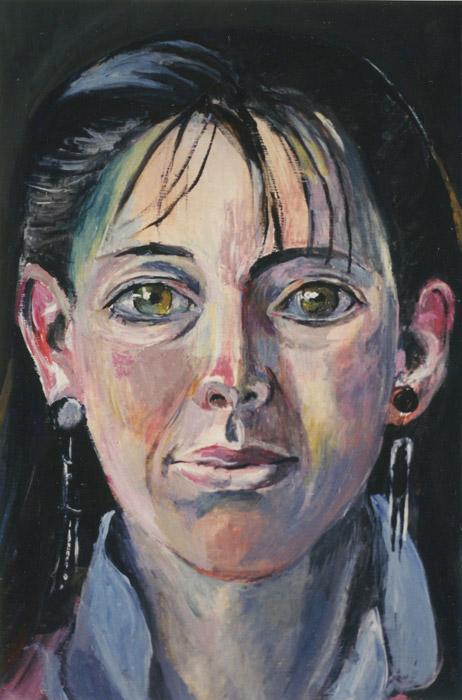 Susanne Sluyterman van Loo - opzet voor schilderij acryl/papier? cm - ongesigneerd 1986?