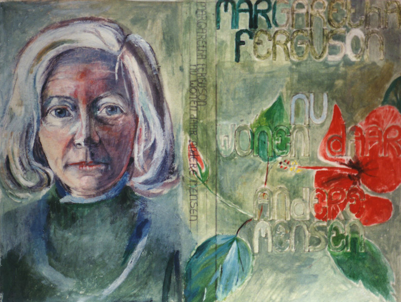 Margaretha Ferguson - acryl/papier 20.5x26.5 cm - ontwerp boekomslag ongesignerd ongedateerd