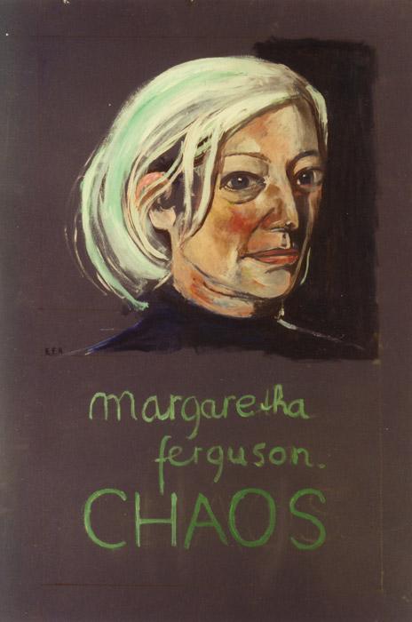 Ontwerp boekomslag Chaos van Margaretha Ferguson - pastel? cm - E.E.R.; linksmidden jaar?
