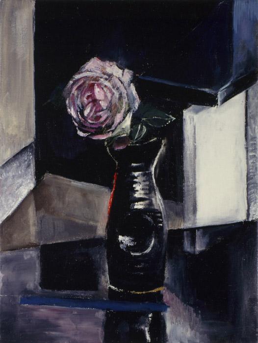 In memoriam Margaretha Ferguson-acryl/doek, 30x40 cm - E.E. Rietveld zomer 1992; linksonder