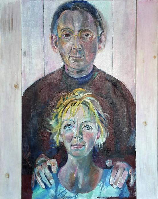 Anna van Keulen en Henk Gaakeer - olie/doek, 63(46) x79cm - april 1994 E E Rietveld; rechtsonder