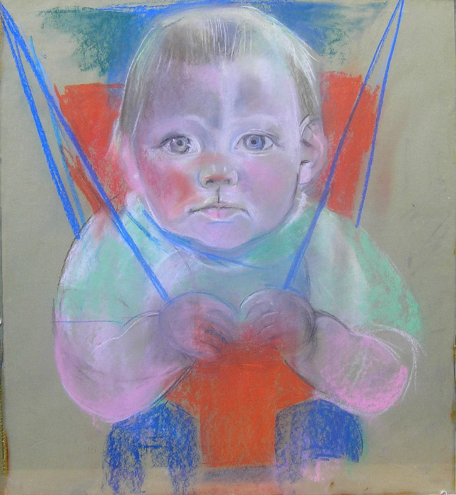 Arnaud in jolly jumper - Pastel, 50 x 55 cm - Ongesigneerd  (± september 1988)