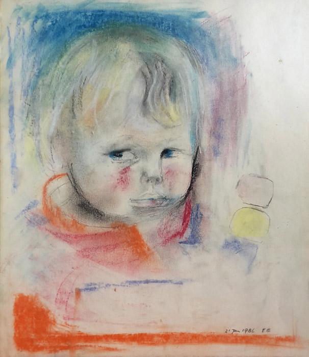 Menno Otten - pastel 24 x 27,5 cm - 21 Jan 1986 EE; rechtsonder
