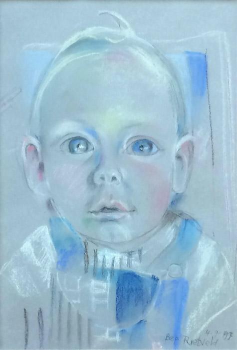 Owen Seijler - pastel 40x28 cm - Bep Rietveld 4-9-97; rechtsonder
