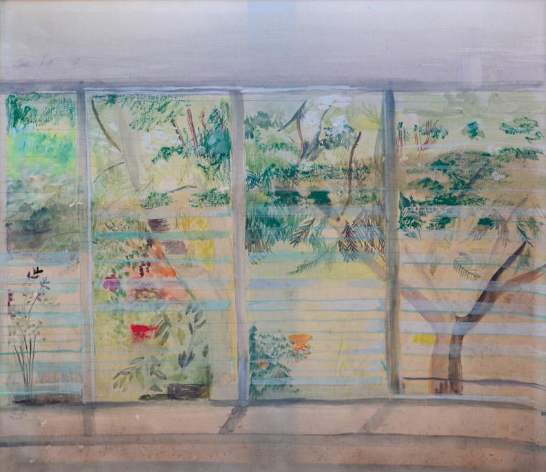 Aruba - aquarel/papier, 36,5x32 cm - jan 1966 B.E.R.; linksonder