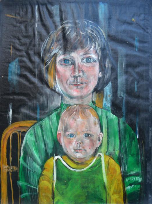 Marjan Fleischer met Elisabeth Liveriero Lavelli - 71x51 cm - 1974 - ongesigneerd