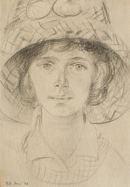 Elsie Coolwijk (1963) - potlood/papier, 8x11 cm - B.E. Juni '63; linksonder