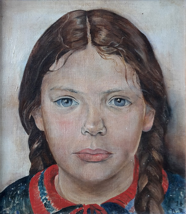 Joan Vermeulen - olieverf op doek, 22x25,5 cm - '36 B.R. ; rechtsonder