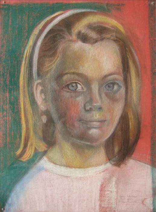 Leone Schröder - Pastel/papier - 40 x 54 cm - sept 1982 - E Eskes-Rietveld; rechtsonder
