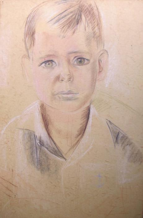 Arnold van Kessel, Batavia zomer 1943 (opzet) - pastel-potlood?/papier, 44 x 32 cm - ongesigneerd