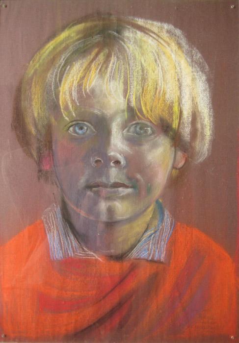Roderick Schröder- pastel/papier - 40x 54 cm - sept 1982 E Eskes-Rietveld; rechtsonder