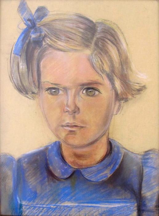 Wilty van Kessel, Batavia zomer 1943 – pastel/papier, 44x32 cm – E.Rietveld; midden onder
