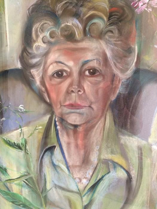 Anna Margaretha (Poel) Bolkestein- pastel 50 x 65 cm; - Elis. Eskes-Rietveld Juli 1979; linksonder