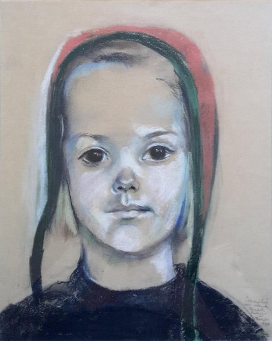 Cornelie van Asbeck – pastel 32,5x27 cm- Cornelie voor Henk Elisabeth Rietveld November 1946; rechtsonder
