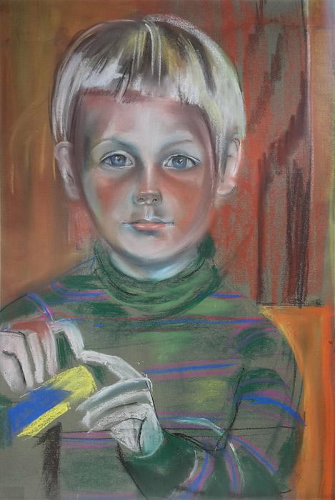 Maarten de Haan – pastel/papier 60x40 cm – ongesigneerd, ongeveer uit 1981