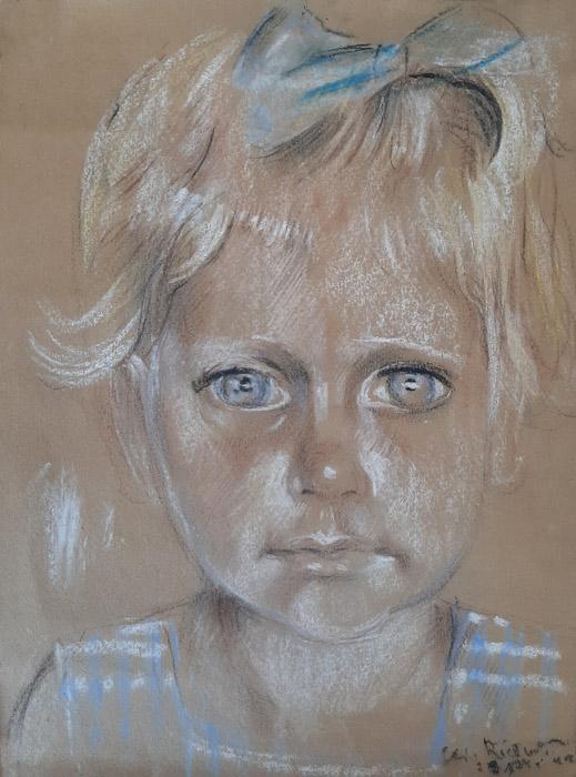 Hannelies Bronsing – pastel/papier 24x35 cm – Elis. Rietveld 23 nov. '44; rechtsonder