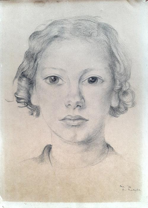 Joop van Bavel – potlood/papier 31x22 cm- Dec. '36 B. Rietveld; rechtsonder