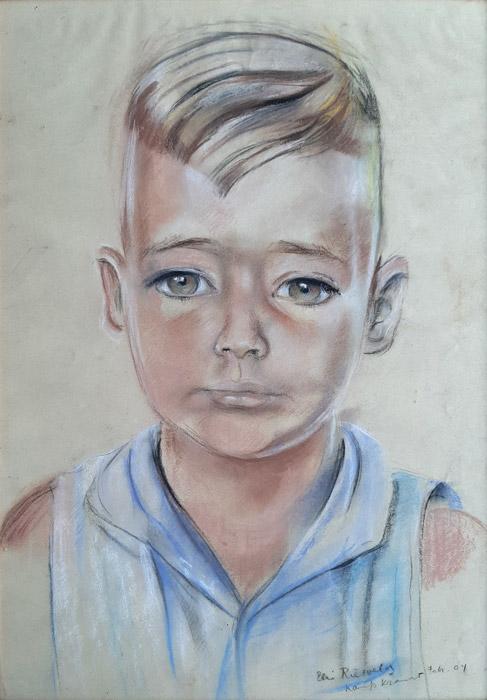 Peter László-pastel/papier 30x43,5 cm-Elis Rietveld kamp Kramat febr. 04; rechtsonder