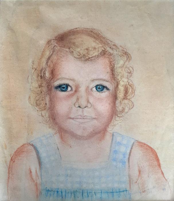 Sonja Rietberg  - pastel/papier 29x34 cm - signering? 04?; rechtsonder