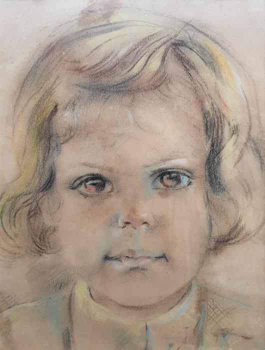 Margaret Reyers – pastel/papier 19,5x26 cm – ongesigneerd, ong. 1944