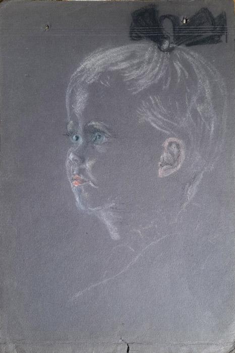 Marijke Julie van den Berg – pastel 19x30 cm – ongesigneerd eind 1945